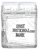 First Nationalized Bank Duvet Cover