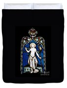 Religious Stained Glass Window Duvet Cover