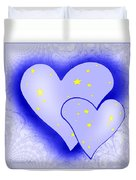 457 - Two Hearts Blue Duvet Cover