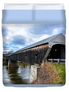 460 Foot Long New Hampshire Covered Bridge Duvet Cover