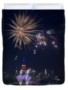 4th Of July Fireworks Duvet Cover by Eduard Moldoveanu