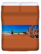 4x1 Florida Beach Panorama 732 Duvet Cover