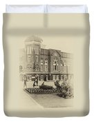 16th Street Baptist Church In Black And White With A White Vingette Duvet Cover