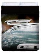1940 Chevrolet Hood Ornament Duvet Cover