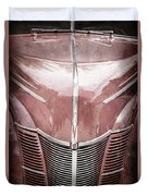 1940 Ford Deluxe Coupe Grille Duvet Cover