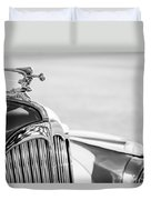 1942 Packard Darrin Convertible Victoria Hood Ornament Duvet Cover