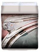 1948 Pontiac Chief Hood Ornament Duvet Cover