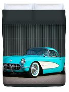 1957 Chevrolet Corvette Duvet Cover
