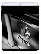 1958 Chevrolet Impala Emblem Duvet Cover