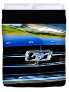 1965 Shelby Prototype Ford Mustang Grille Emblem Duvet Cover