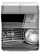 1969 Chevrolet Camaro Z 28 Grille Emblem Duvet Cover