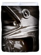 1969 Ford Mustang Mach 1 Emblem Duvet Cover