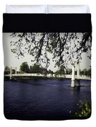 A Wonderful Suspension Bridge Over The River Ness In Inverness Duvet Cover