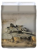 An Israel Defense Force Magach 7 Main Duvet Cover