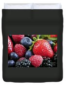 Assorted Fresh Berries Duvet Cover by Elena Elisseeva