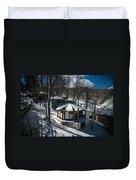At The Ski Resort Duvet Cover