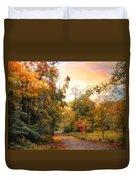 Autumn's Sunset Path Duvet Cover