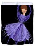 5 Blue Ballerina Duvet Cover