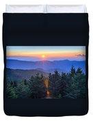 Blue Ridge Parkway Autumn Sunset Over Appalachian Mountains  Duvet Cover