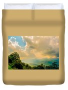 Blue Ridge Parkway Scenic Mountains Overlook Duvet Cover