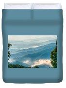 Blue Ridge Parkway Scenic Mountains Overlook Summer Landscape Duvet Cover