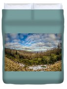 Blue Ridge Parkway Winter Scenes In February Duvet Cover