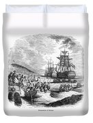 Boston: Evacuation, 1776 Duvet Cover