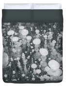 Bubbles In Ice On Abraham Lake Duvet Cover