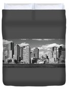 Buildings At The Waterfront, Boston Duvet Cover