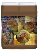 5 By 5 Gold Worlds Duvet Cover