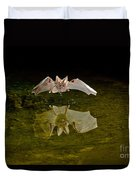 California Leaf-nosed Bat At Pond Duvet Cover