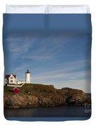 Cape Neddick Lighthouse Duvet Cover