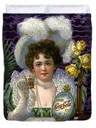 5 Cent Coca Cola - 1890 Duvet Cover