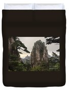 Chinese White Pine On Mt. Huangshan Duvet Cover