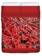 Conceptual Image Of Red Blood Cells Duvet Cover
