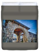 Cultured Stone Terrace Trellis Details Near Park In A City  Duvet Cover