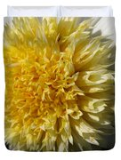 Dahlia Named Platinum Blonde Duvet Cover