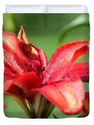 Double Asiatic Lily Named Cocktail Twins Duvet Cover