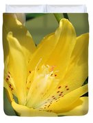 Double Asiatic Lily Named Fata Morgana Duvet Cover