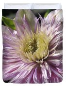 Double Clematis Named Empress Duvet Cover