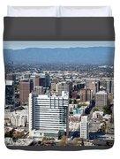 Downtown San Jose California Duvet Cover