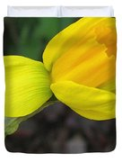 Dwarf Cyclamineus Daffodil Named Jet Fire Duvet Cover