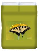 Eastern Tiger Swallowtail Butterfly Duvet Cover