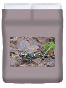 Fire Salamander Duvet Cover