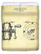 Fishing Reel Patent From 1874 Duvet Cover