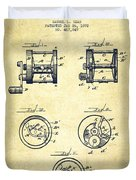 Fishing Reel Patent From 1892 Duvet Cover