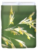 Flowering Brome Grass Duvet Cover