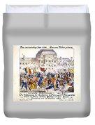 France Revolution, 1848 Duvet Cover