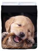 Golden Retriever Puppy Duvet Cover