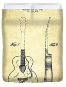 Gretsch Guitar Patent Drawing From 1941 - Vintage Duvet Cover by Aged Pixel